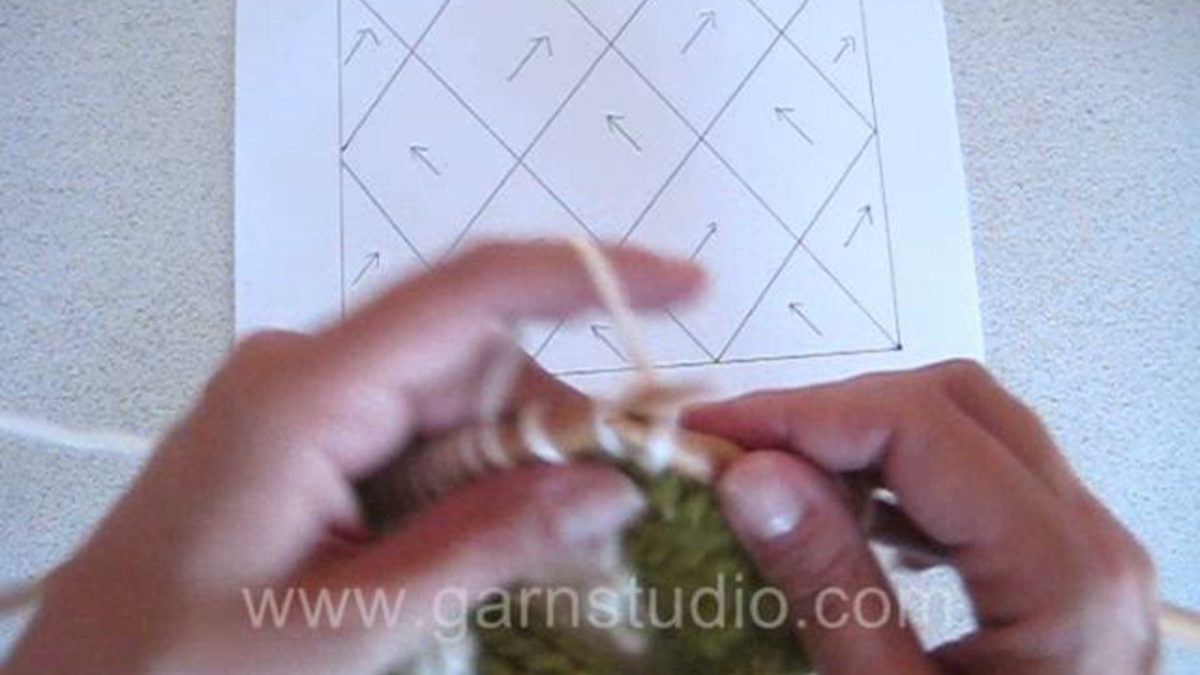 How to knit entrelac on straight needles