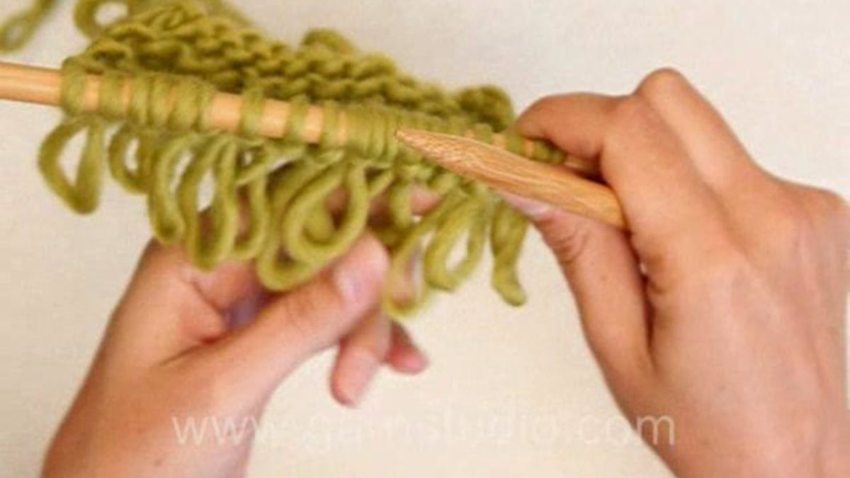 How to knit single loop knitting