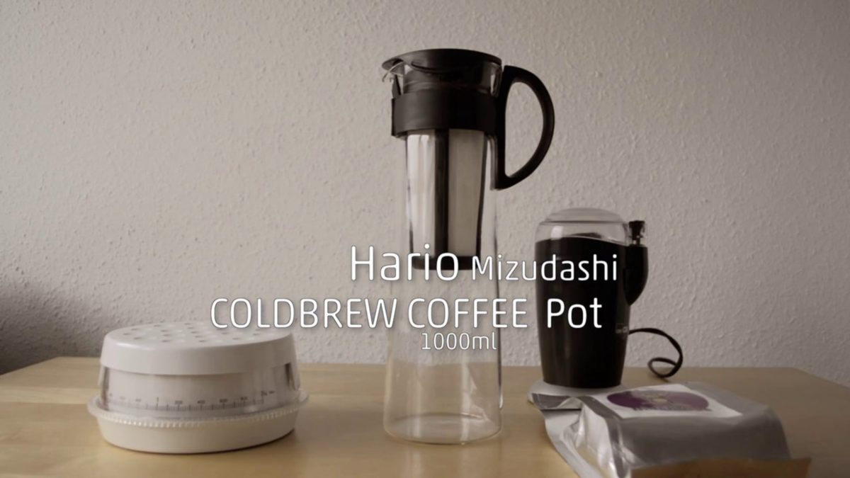 How-to prepare cold brew coffee with a Hario Mizudashi