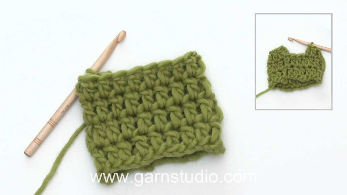 How to crochet a double crochet (dc) US / treble crochet (tr) UK in the round