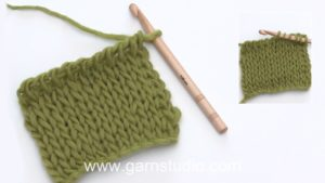 How to crochet a knit stitch in Tunisian/Afghan crochet