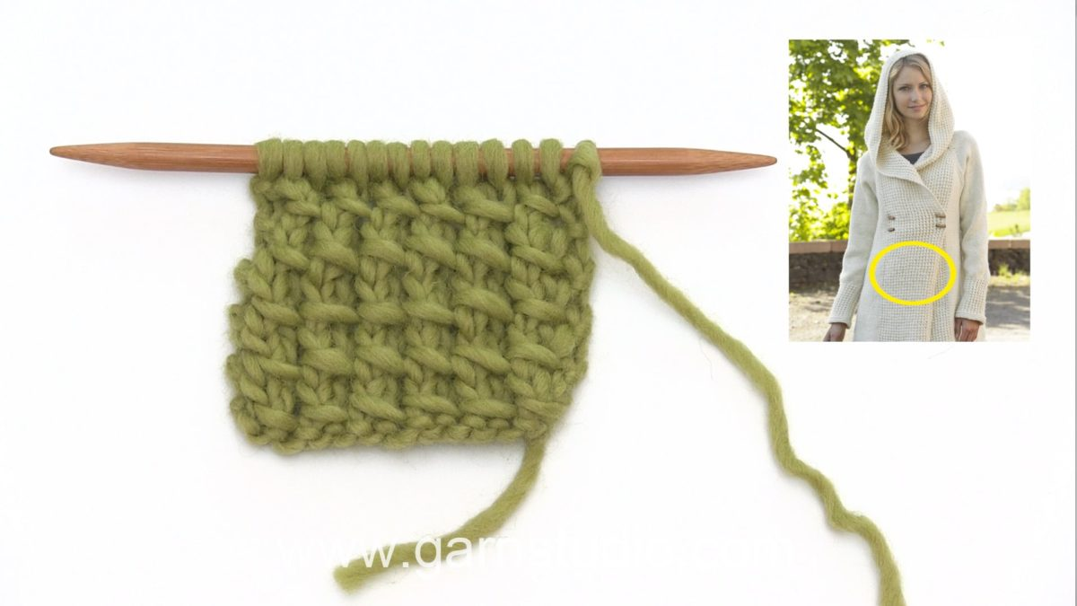 How to knit a bamboo pattern