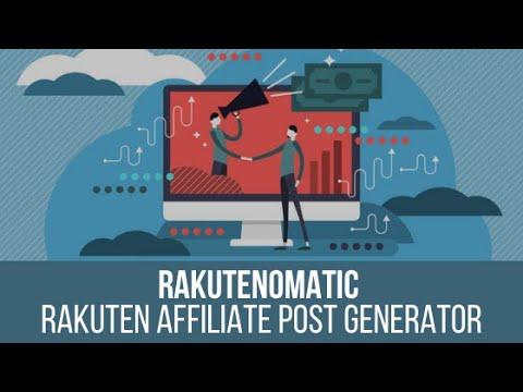 Rakutenomatic – Rakuten Affiliate Automatic Post Generator Plugin for WordPress