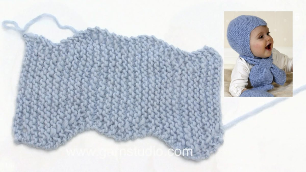 How to knit a baby helmet hat (worked sideways)
