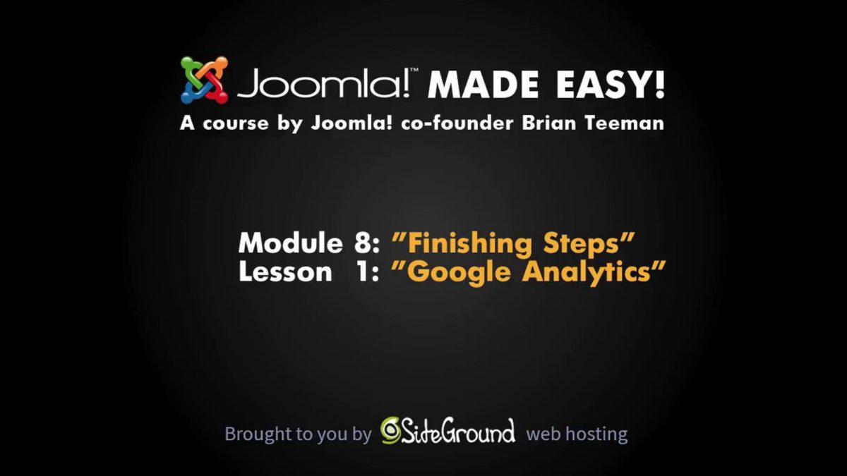 8.1 – Google Analytics