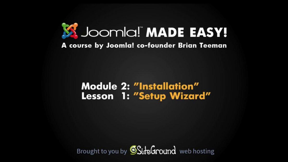 2.1 – Installation Wizard