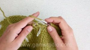 How to knit garter stitch back and forth over a few stitches