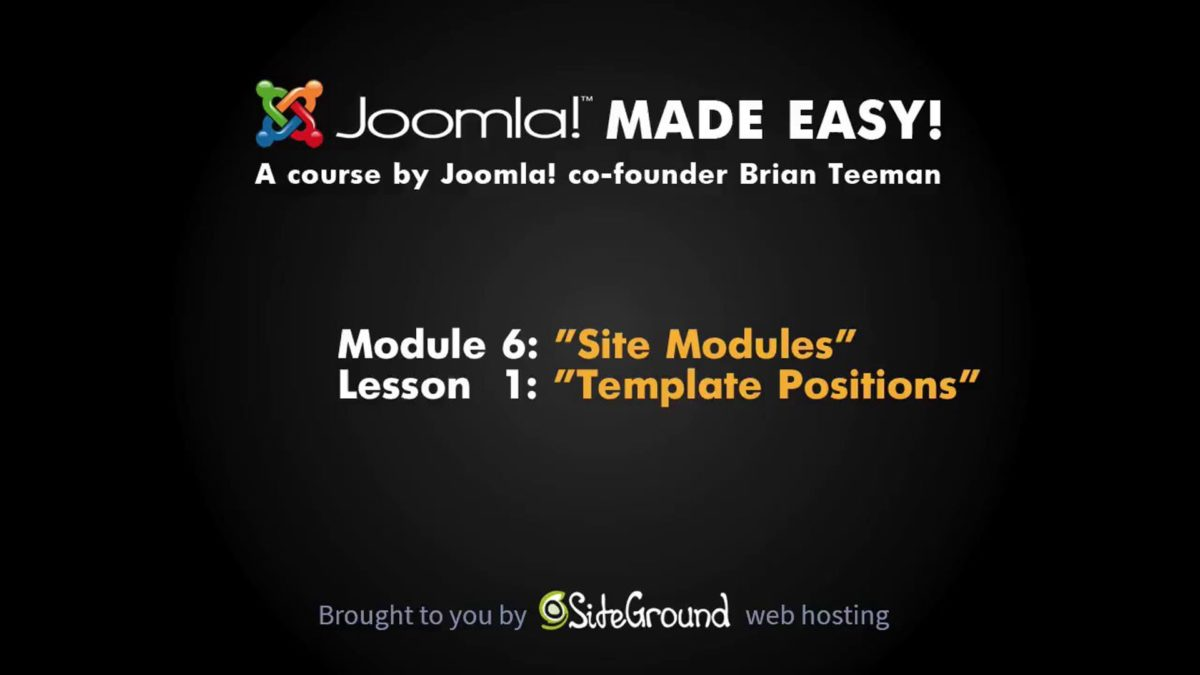 6.1 – Template Positions