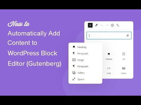 How to automatically add content to Gutenberg blocks using my autoblogging plugins