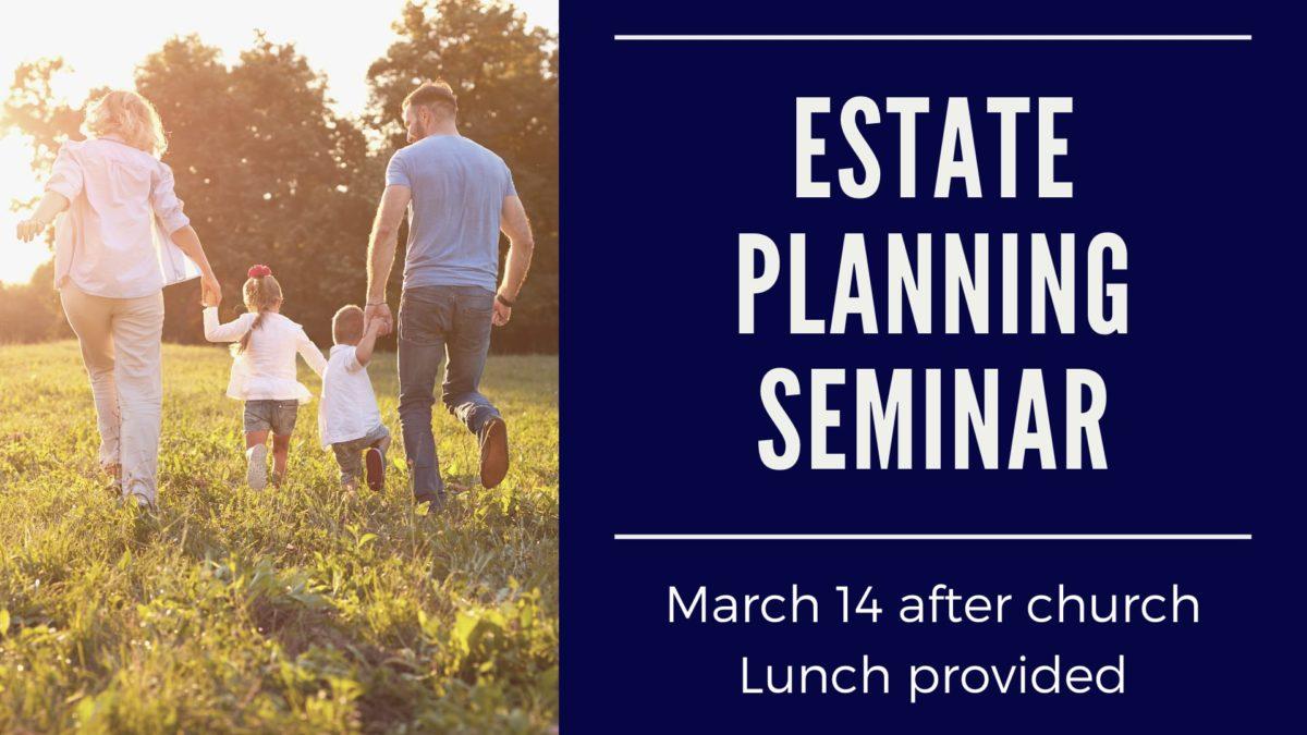 Estate Planning Seminar @ Eastside